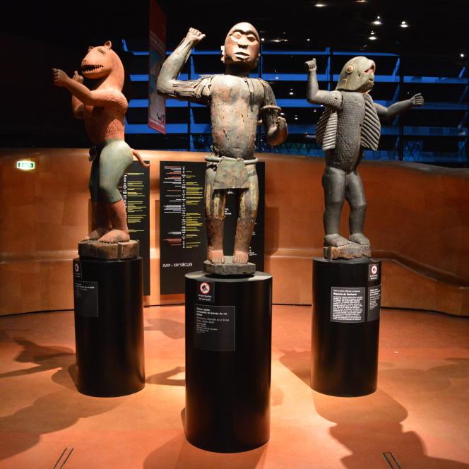 Statues royales, Abomey, Musée du quai Branly, Paris.