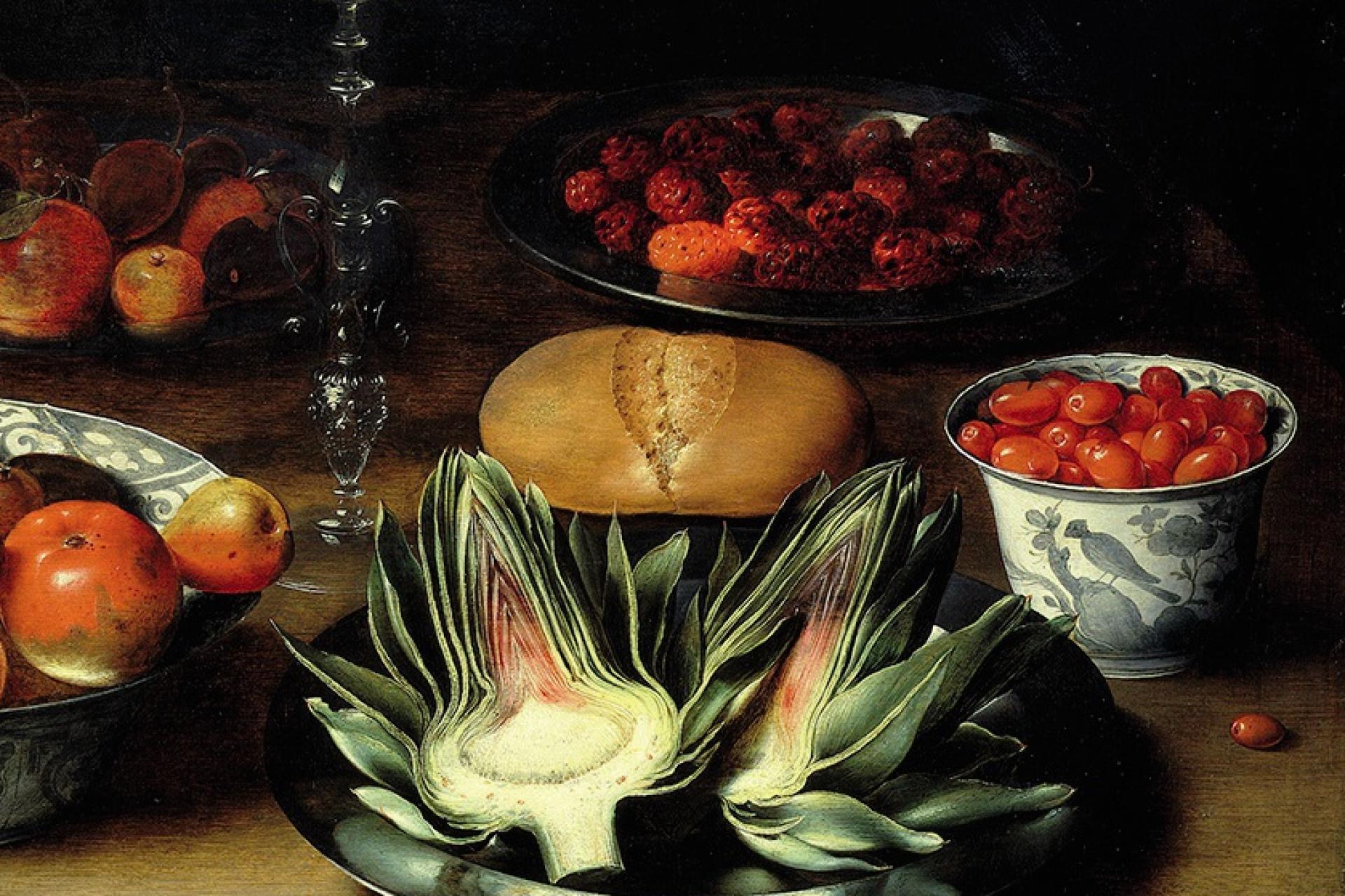 Cinq fruits et légumes par jour, déjà, dans la peinture flamande du XVIIe siècle. (Osias Beert, au Musée des beaux-arts de Grenoble.)