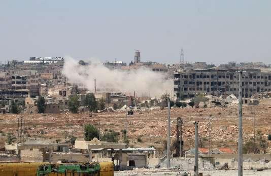 Le quartier de Bani Zeid, dans Alep-est, le 28 juillet.