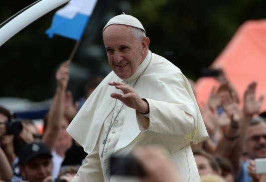 Le pape François, le 28 juillet à Cracovie en Pologne.