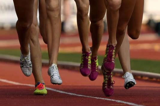 Des athlèthes lors d'un« meeting» sportif à Moscou en juillet 2016.
