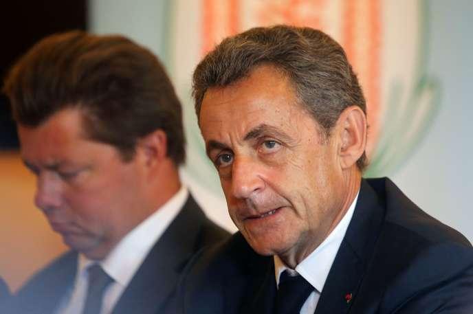 L'ex-président de la RépubliqueNicolas Sarkozy a évoqué le problème de la sécurité dans les zones rurales et en France, lors d'une rencontre avec des élus de l'Oise et des céréaliers du département, à Avrigny, le jeudi 28juillet.