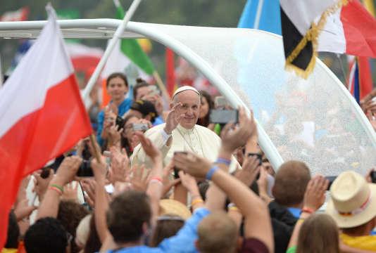 Le pape François, jeudi 28 juillet, à Cracovie.