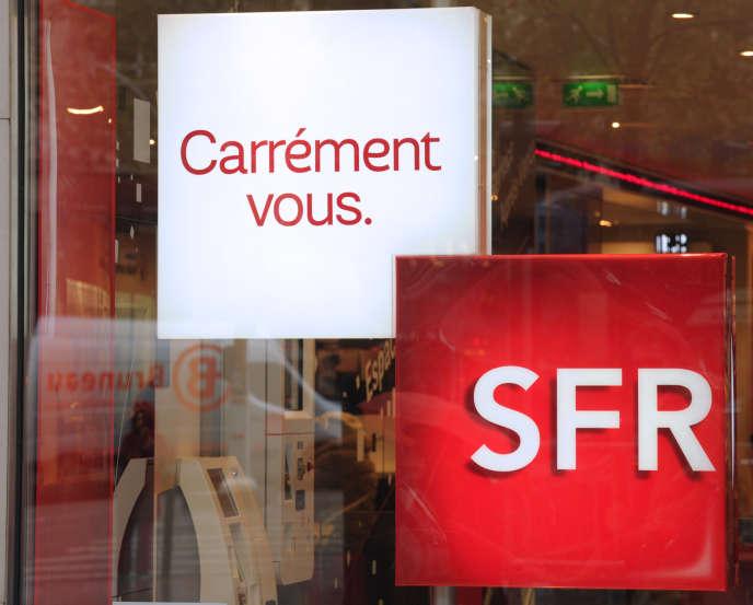 Une boutique SFR, en novembre2013.