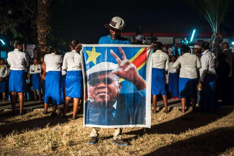 Un partisan de l'opposant EtienneTshisekedi, à Kinshasa, le 27 juillet.