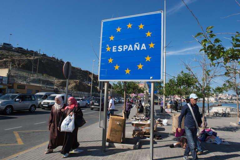 A Ceuta, enclave espagnole au nord du Maroc.