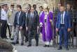 Le président François Hollande et le cardinal André Vingt-Trois,à la sortiede la messe,à Notre-Dame de Paris, le 27juillet.