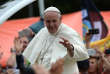 Pope Francis in popemobile at the Jasna Gora Monastery in Czestochowa, Poland, on July 28, 2016. Pope Francis heads to Poland for an international Catholic youth festival with a mission to encourage openness to migrants. / AFP / FILIPPO MONTEFORTE