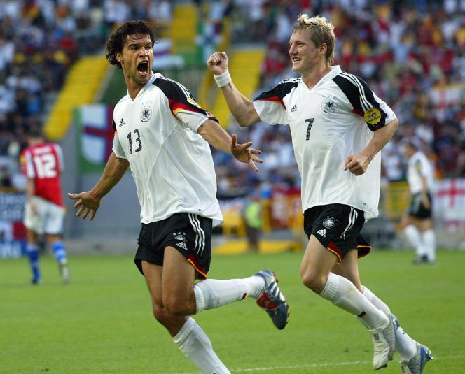 Bastian Schweinsteiger a connu sa première sélection en 2004, aux côtés de Michael Ballack.