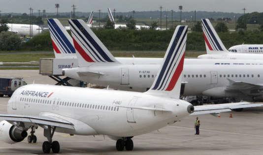 20% des vols d'Air France sont annulés.