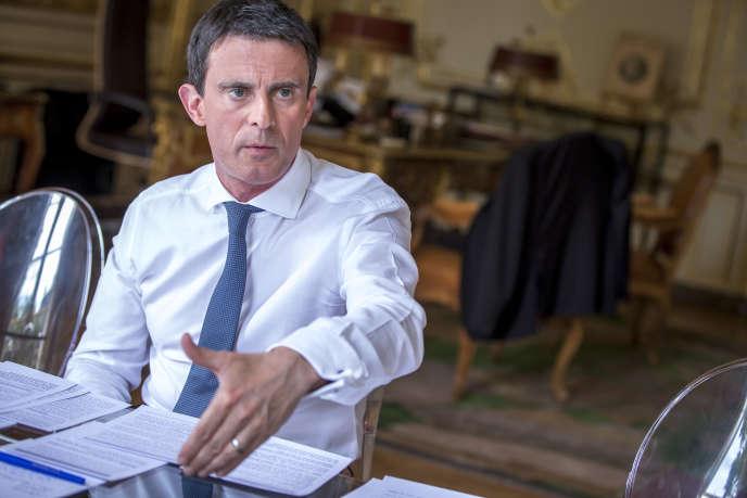 Manuel Valls, à l'hôtel de Matignon, à Paris, le 28 juillet.