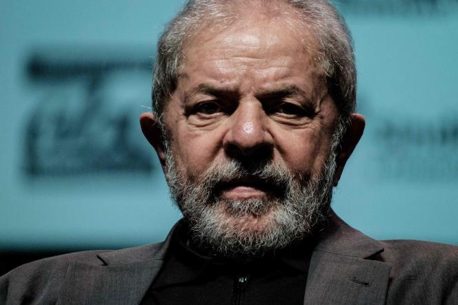 L'ancien président de gauche du Brésil Luiz Inacio Lula da Silva (2003-2010), en juin, à Rio de Janeiro.