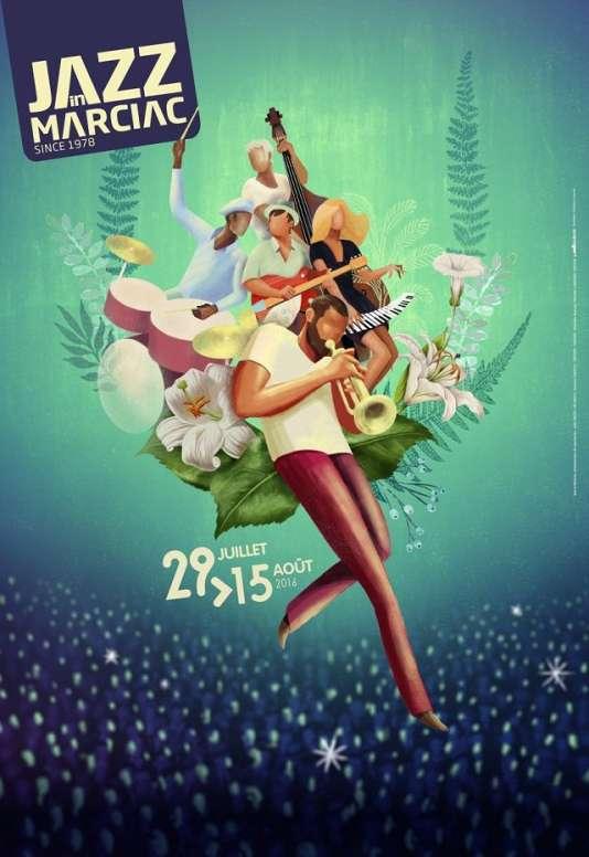 L'affiche du festival Jazz In Marciac en 2016.