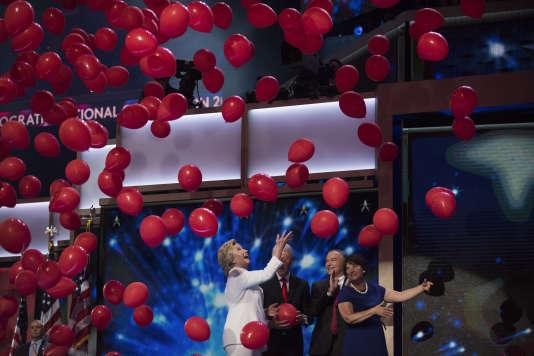 Hillary Clinton à la convention démocrate, le 28 juillet à Philadelphie.