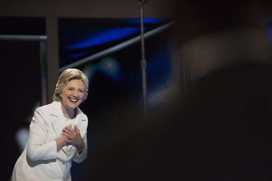 Le soir de l'investiture d'Hillary Clinton, candidate démocrate à l'élection présidentielle, Philadelphie, le 28 juillet.
