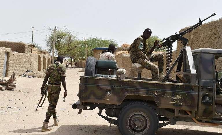 Une patrouile de soldats nigériens après une attaque de Boko Haram, à Bosso le 17 juin.