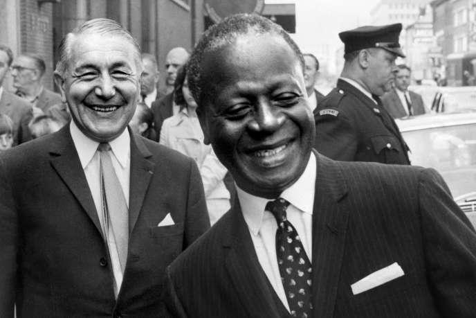 Emile-Derlin Zinsou, président du Dahomey, lors d'un voyage à Bruxelles, en août1969.