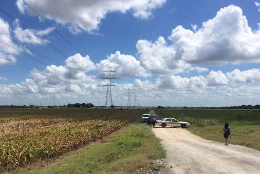 Près du lieu du crash, à Lockhart dans le Texas.