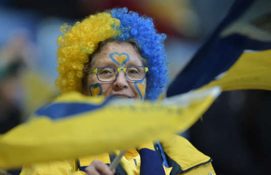 Un supportrice de Sochaux en avril.