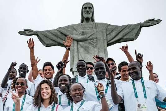 Les sportifs de l'équipe olympique des réfugiés, le 30 juillet à Rio.