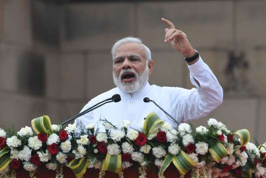 Le premier ministre indien, Narendra Modi, à New Delhi le 31 juillet.