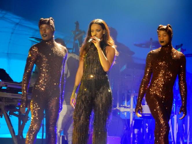 Rihanna lors d'un concert à Prague, le 26 juillet 2016.