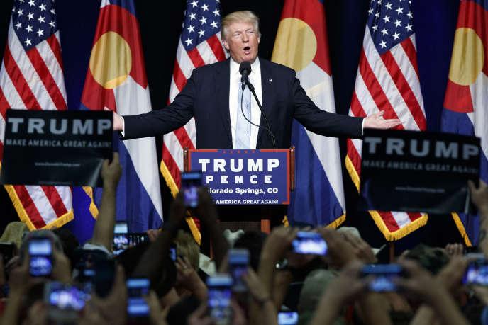 Donald Trump, à Colorado Springs, le 29 juillet.
