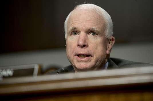 John McCain, sénateur républicain de l'Arizona, le 9février.