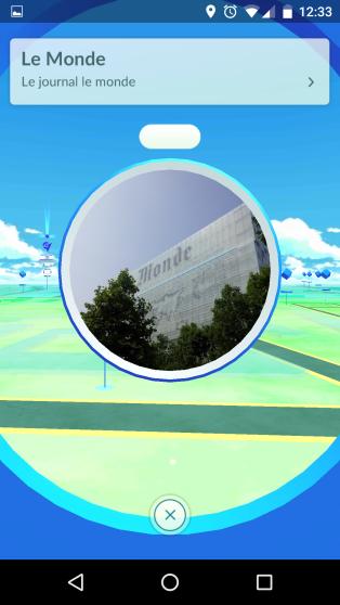Le siège du« Monde», par exemple, est un pokéstop.