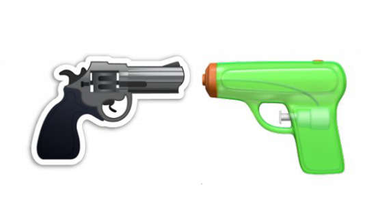 Le pistolet à eau remplacera le revolver dès l'automne et la sortie du système d'exploitation iOS10.