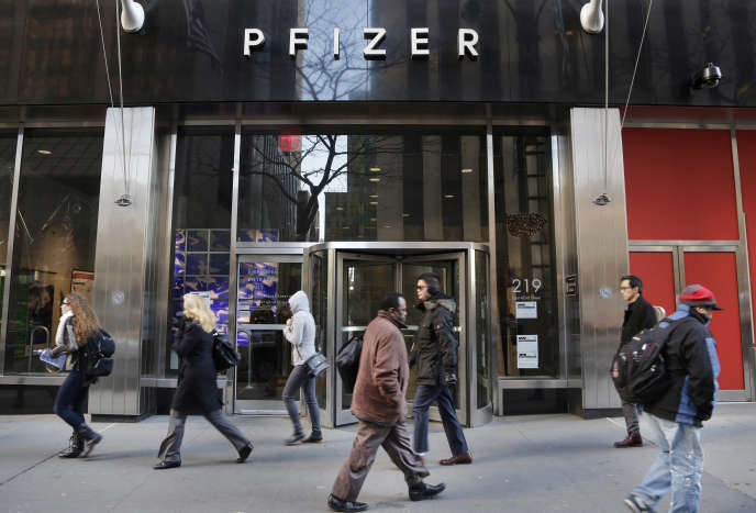 Le siège de Pfizer, à New York.