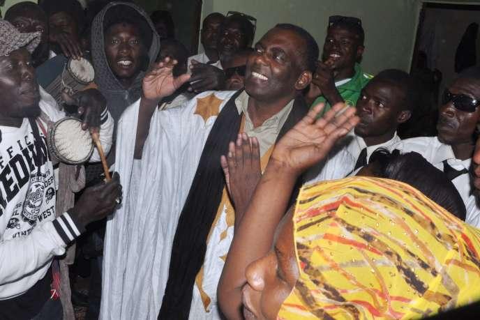Le militant anti-esclavagisme, Biram Ould Dah Ould Abeid, à sa sortie de prison en mai 2016.