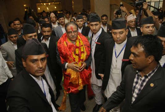 Pushpa Kamal Dahal à Katmandou, le 3 août.