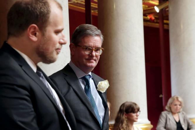 Julian King, alors ambassadeur du Royaume-Uni en France, à l'Assemblée nationale, le 21 juin.