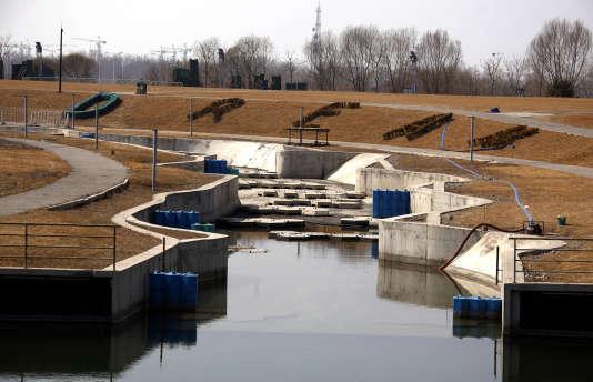 Le site de canoë-kayak des Jeux olympiques de Pékin (2008), le 27 mars 2012.