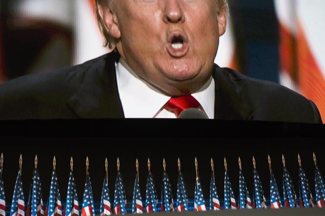 Discours d'investiturede Donald Trump à Cleveland, le 21 juillet, lors de la convention républicaine.