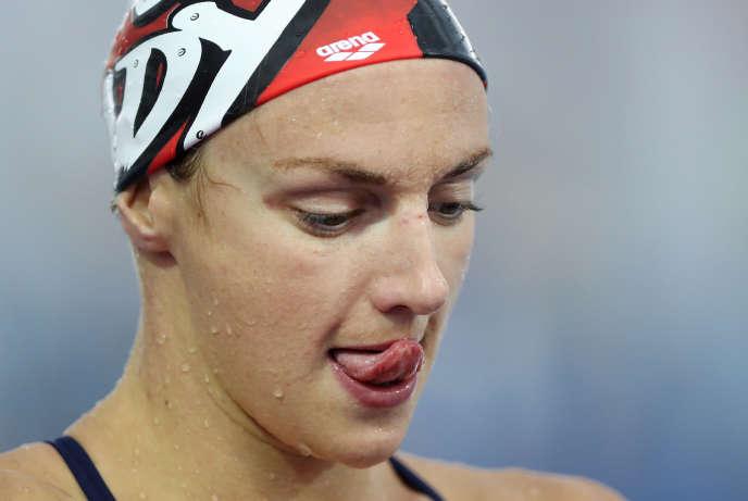 Katinka Hosszu lors d'un entraînement, le 3 août, à Rio de Janeiro.