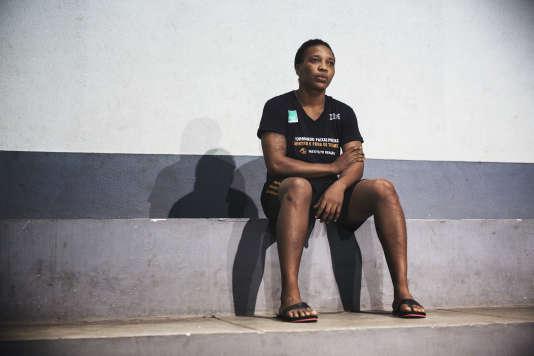 Yolande Mabika, le 13 juillet, à l'Institut Reaçao, à Rio de Janeiro. La judoka de 28 ans a fui la guerre civile qui a dévasté la RDC entre 1998 et 2003.