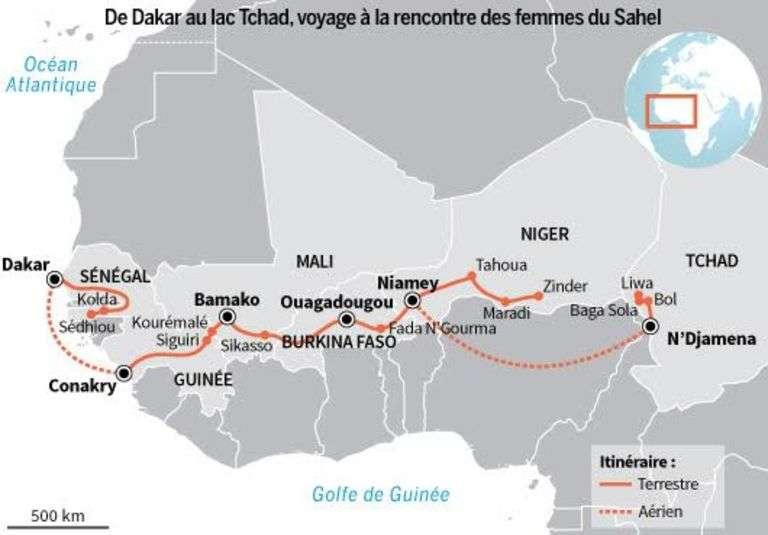 La série d'été du Monde Afrique: 4000 km et 27 étapes entre le Sénégal et le lac Tchad, sur le thème de la santé maternelle et infantile