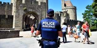 Policier municipal, à Carcassonne (Aude), en 2016.