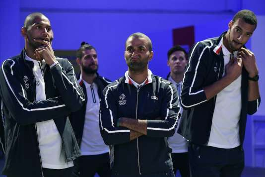 La réaction de Tony Parker quand un journaliste lui a demandé si les basketteurs français allaient décrocher une médaille.