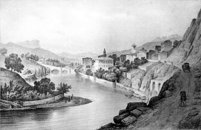 Saillans par Alexandre Joseph Michel François Debelle (1805-1897)