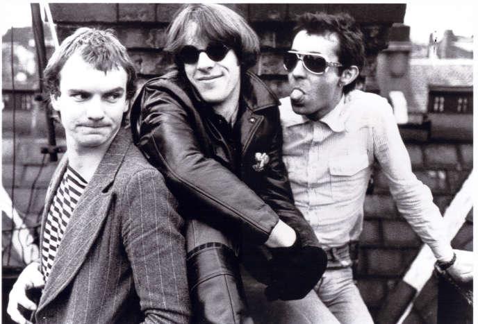 Sting, Stewart Copeland et Henry Padovani. Le trio du groupe The Police en 1977.