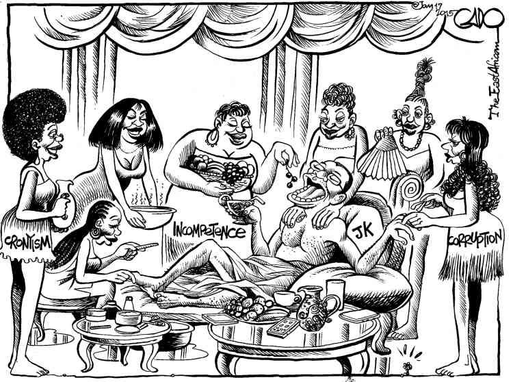 Au début de 2015,Gado, caricaturiste star au Daily Nation, au Kenya,croque le président tanzanien Jakaya Kikwete en empereur romain décadent, entouré de sept femmes qui représentent autant de péchés capitaux. Pour le pouvoir kényan, c'est le dessin de trop. Le journal est suspendu un an et le dessinateur se voit «remercié». La rupture faitl'effet d'une bombe à Nairobi...Lire la suite dans l'article de Bruno Meyerfeld.