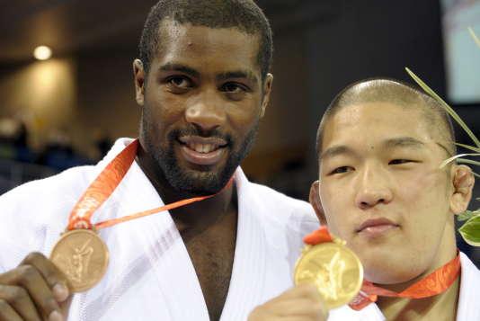 Teddy Riner et Satoshi Ishii aux JO de Pékin en 2008.