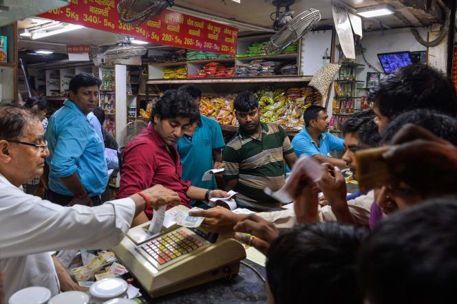 Dans les vieux quartiers de New Delhi, mardi 2 août.