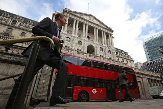 La Banque d'Angleterre, à Londres, le 4 août.