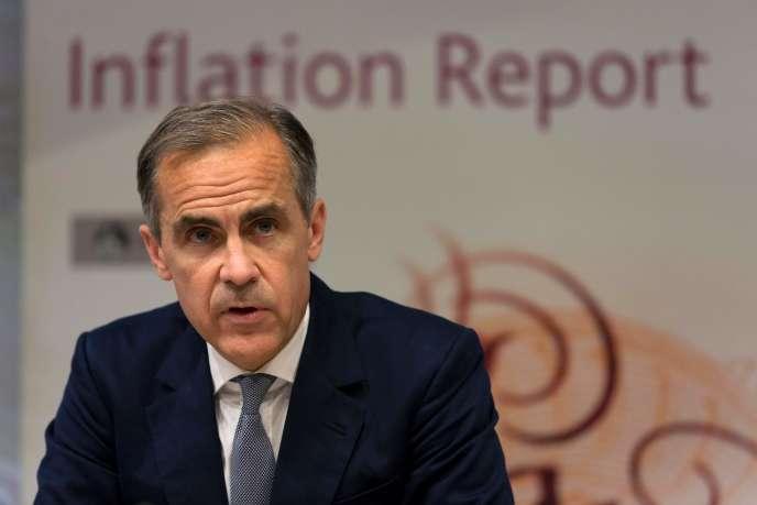 Mark Carney, gouverneur de la Banque d'Angleterre, jeudi 4 août, à Londres.