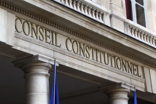 L'entrée du Conseil constitutionnel, le 21 février 2012.