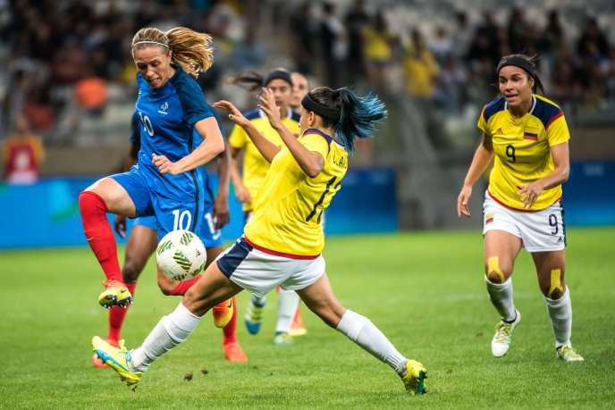Camille Abily lors du match contre la Colombie (4-0), le 3 août à Belo Horizonte.